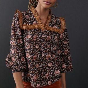 Anthropologie Othilia Sera ruffled blouse